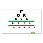 FROG eyechart Sticker (Rectangle 50 pk)