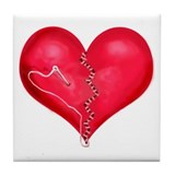 """Mended Heart"" Tile Coaster"