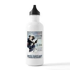 I Wish Navy Water Bottle
