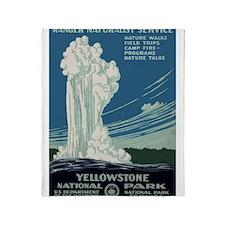 Yellowstone Park Throw Blanket