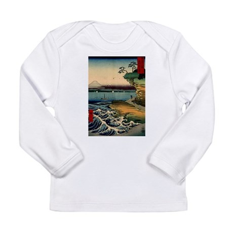 Japanese Ukiyo-e Mt. Fuji Long Sleeve Infant T-Shi