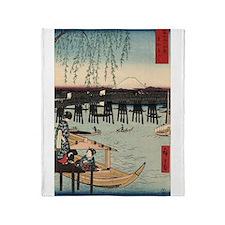 Japanese Ukiyo-e Print Throw Blanket