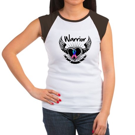 Warrior Thyroid Cancer Women's Cap Sleeve T-Shirt