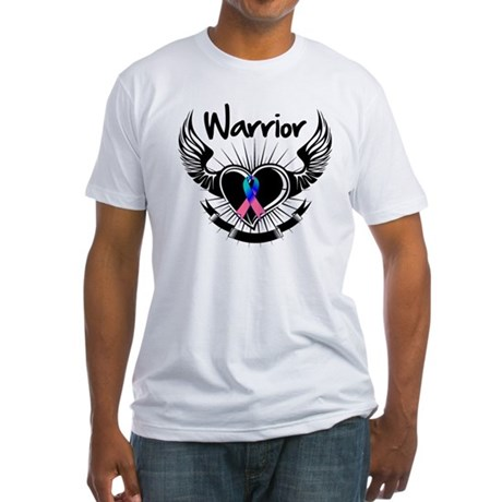 Warrior Thyroid Cancer Fitted T-Shirt