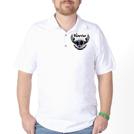 Warrior Thyroid Cancer Golf Shirt