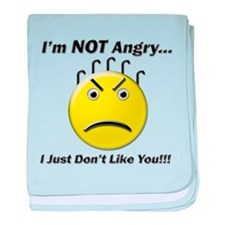 I'm Not Angry.. I just Don't baby blanket