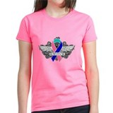Survivor Wings Thyroid Cancer Tee