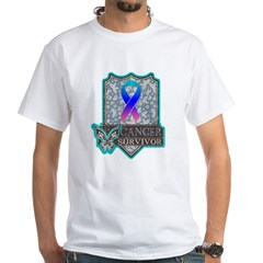 Survivor - Thyroid Cancer White T-Shirt