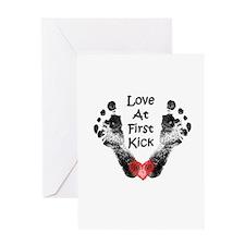 Love At First Kick Greeting Card