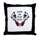 Love At First Kick Throw Pillow