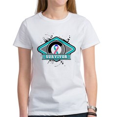 Thyroid Cancer Survivor Ribbo Women's T-Shirt