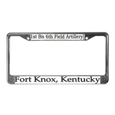 1st Bn 6th Artillery License Plate Frame