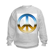 Blue and Gold Peace Sign Sweatshirt