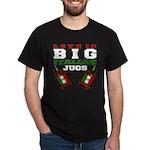 Love is Big Italian Jugs Black T-Shirt