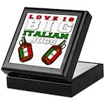 Love is Big Italian Jugs Keepsake Box