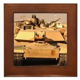 M1A1 Abrams MBT patrol route  Framed Tile