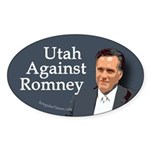 Utah Against Romney oval bumper sticker