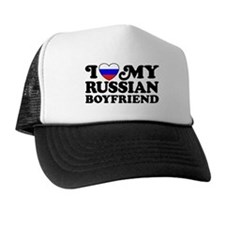 I Love My Russian Boyfriend Trucker Hat