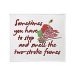 Two-Stroke Roses Throw Blanket