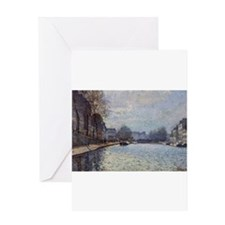 View of the Canal Saint-Martin, Paris, 1870, by Al