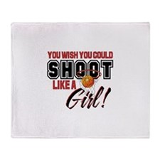 Basketball - Shoot Like a Girl Throw Blanket