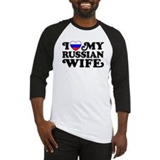 I Love My Russian Wife Baseball Jersey