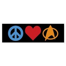 Peace Love Star Trek Bumper Sticker