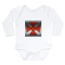 He-Man Chest Plate Long Sleeve Infant Bodysuit