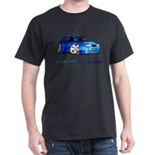 Blue FF.Com Custom Black T-Shirt