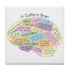 Quilter's Brain Tile Coaster