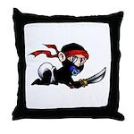 Ninja Baby Throw Pillow