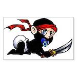 Ninja Baby Sticker (Rectangle)