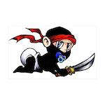 Ninja Baby 38.5 x 24.5 Wall Peel