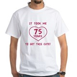 Funny 75th Birthday (Heart) Shirt