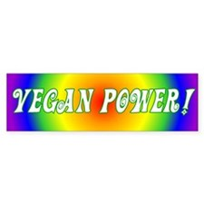 Vegan Power Bumper Bumper Sticker
