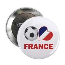 "French Soccer Fan 2.25"" Button"