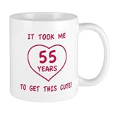 Funny 55th Birthday (Heart) Mug