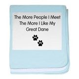 great dane luv baby blanket