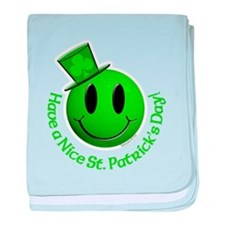 St. Pats Smiley baby blanket