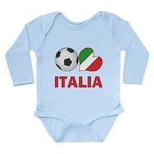 Italian Soccer Fan Long Sleeve Infant Bodysuit