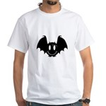 Bat Smiley 2 White T-Shirt