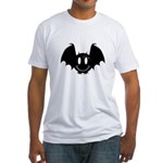 Bat Smiley 2 Fitted T-Shirt