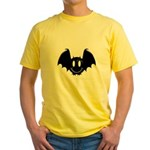 Bat Smiley 2 Yellow T-Shirt