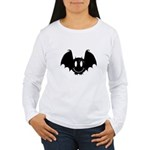 Bat Smiley 2 Women's Long Sleeve T-Shirt