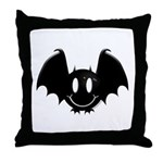 Bat Smiley 2 Throw Pillow