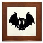 Bat Smiley 2 Framed Tile