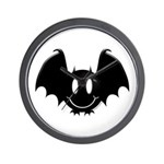 Bat Smiley 2 Wall Clock