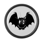 Bat Smiley 2 Large Wall Clock