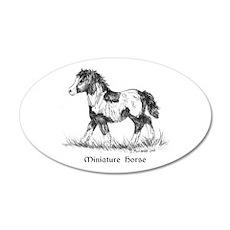 Miniature Horse 35x21 Oval Wall Peel