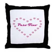Paso Fino Valentine Throw Pillow